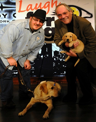 Brian and Robert Klein with Nash and puppy